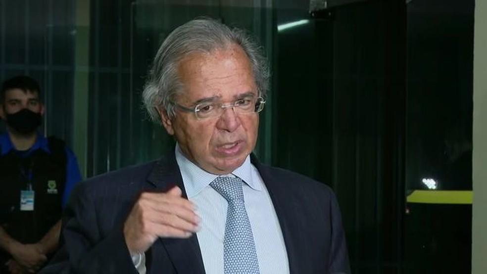 O ministro da Economia, Paulo Guedes. — Foto: Reprodução/GloboNews
