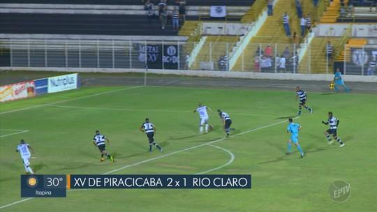 Em jogo com susto de volante, XV de Piracicaba faz o dever de casa sobre o Rio Claro na Copa Paulista