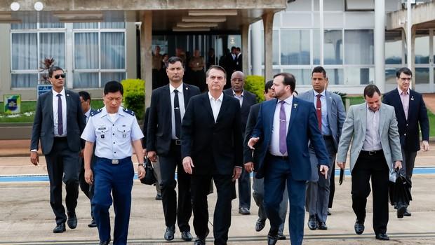Jair Bolsonaro embarca para os Estados Unidos (Foto: Reprodução/Alan Santos/ Presidência da República)