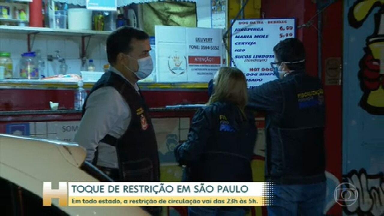 São Paulo começa a restrição da circulação de pessoas das 23h às 5h