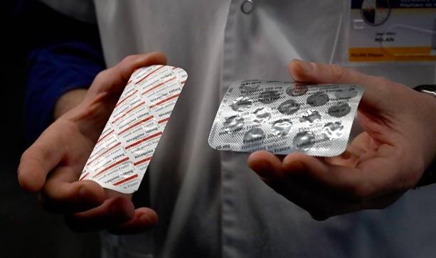 Embalagens de cloroquina e de hidroxicloroquina