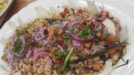 Salada de Feijão Branco do Chef Roberto Ravioli