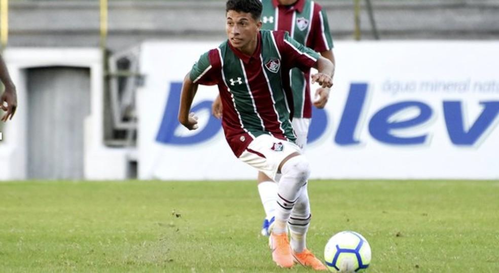 Leandro Spadacio é uma das promessas de Xerém.  Foto: Mailson Santana/Fluminense FC