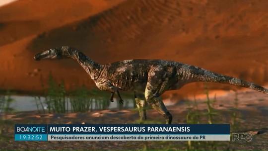 Pesquisadores anunciam descoberta do primeiro dinossauro do Paraná