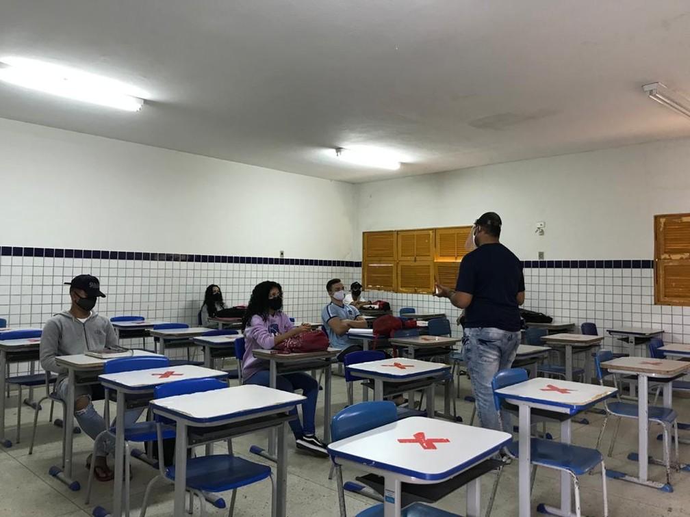 Volta às aulas nas escolas públicas estaduais do RN — Foto: Ayrton Freire/Inter TV Cabugi