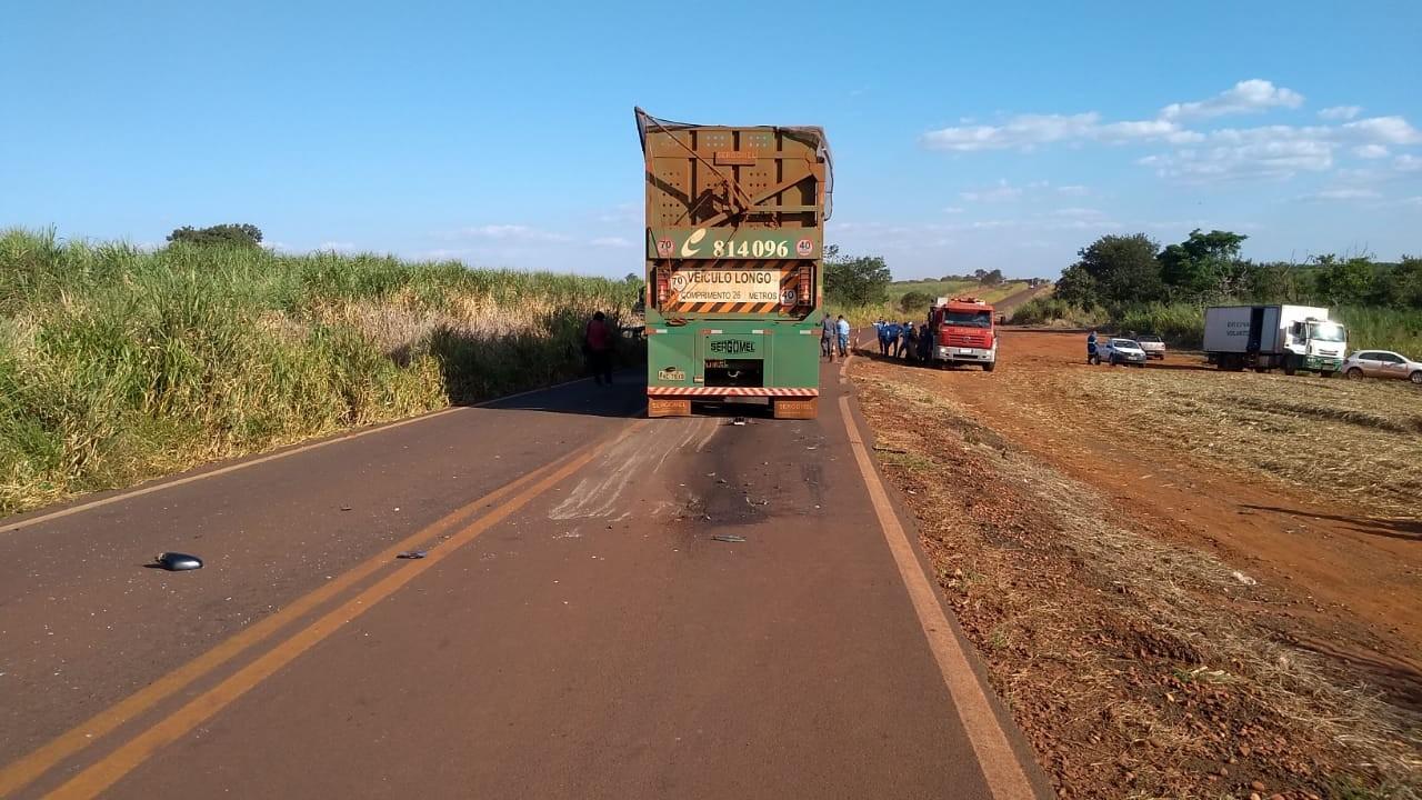 Motorista morre em acidente entre carro e caminhão na LMG-864 em Iturama