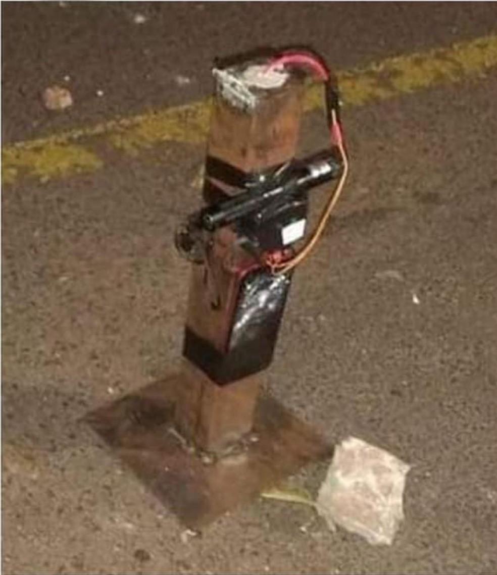 Explosivos foram espalhados por ruas de Ara?atuba (SP) ? Foto: Arquivo pessoal