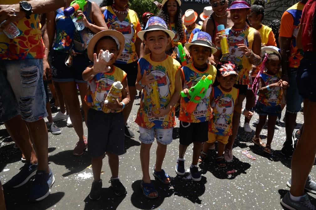 Foliões curtem último dia oficial de carnaval no circuito Campo Grande  — Foto: Sérgio Pedreira/Aghaack