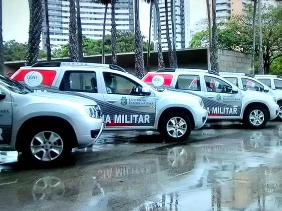 Polícia Militar recebe 150 novos veículos com equipamentos policiais.  (Foto: Reprodução/TVM)