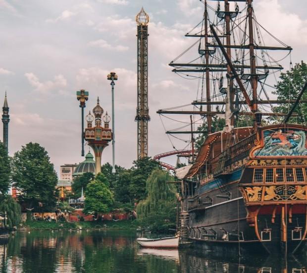 Parque Tivoli Gardens, em Copenhagen (Foto: Visit Copenhagen/Reprodução)