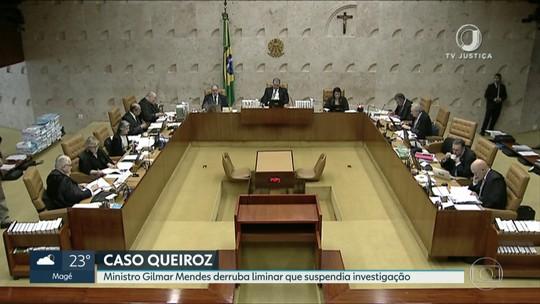 Ministro Gilmar Mendes revoga decisão que suspendia investigação do caso Queiroz no MP-RJ