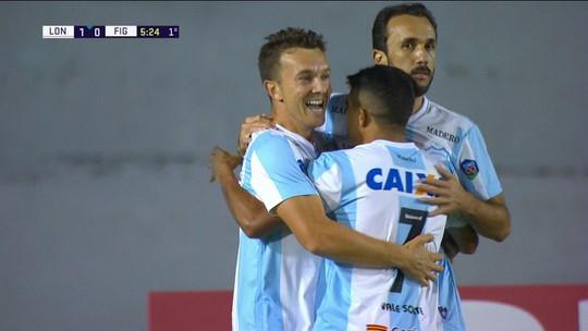 Os gols de Londrina 2 x 0 Figueirense pela 28ª rodada do Campeonato Brasileiro da Série B