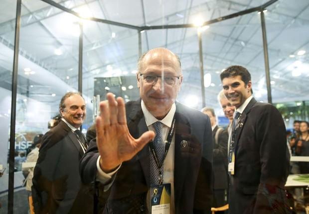 Alckmin no 8º Fórum Mundial da Água (Foto: Marcelo Camargo/Agência Brasil)