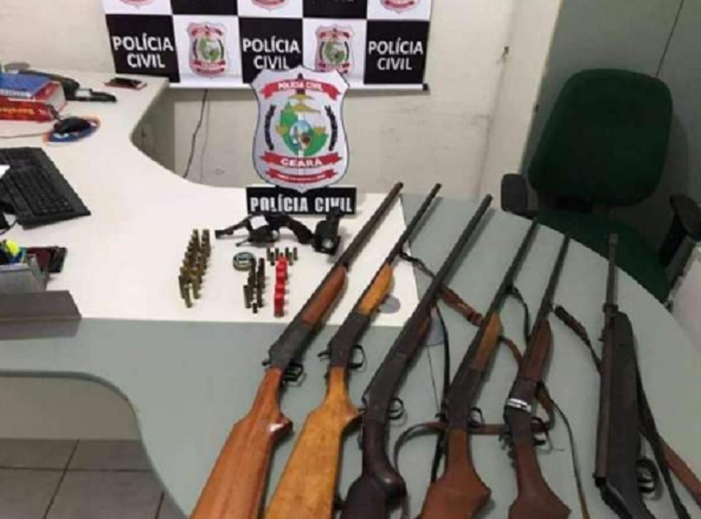 Operação de combate ao comércio clandestino de armas de fogo em Jucás. — Foto: SSPDS