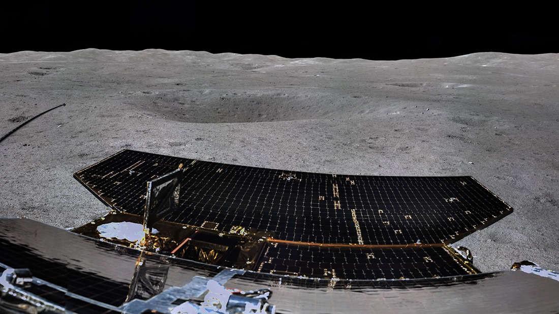 Foto tirada pela sonda Chang'e 4 (Foto: Divulgação)