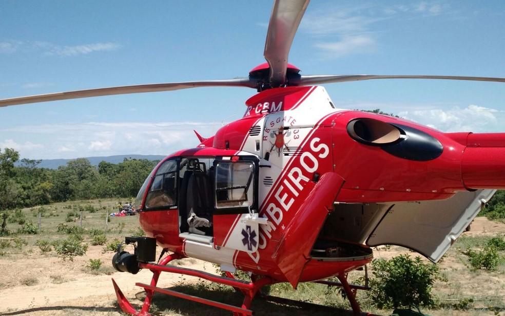Helicóptero do Corpo de Bombeiros do Distrito Federal  — Foto: Corpo de Bombeiros/Divulgação