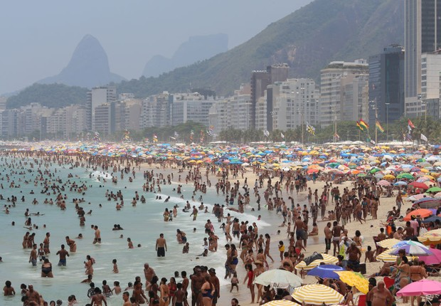 Praia de Copacabana, no Rio de Janeiro (Foto: Luiz Souza/NurPhoto via Getty Images)