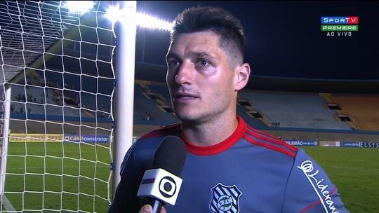 Denis comenta boa atuação do Figueirense diante do Goiás