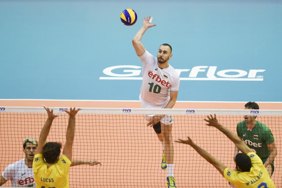 Brasil x Bulgária pela Liga das Nações de Vôlei Masculino (Foto: FIVB)