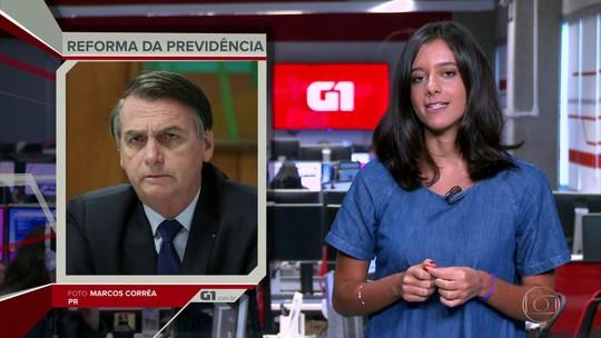 G1 em 1 Minuto: Proposta de capitalização 'não é essencial' no momento, diz Bolsonaro