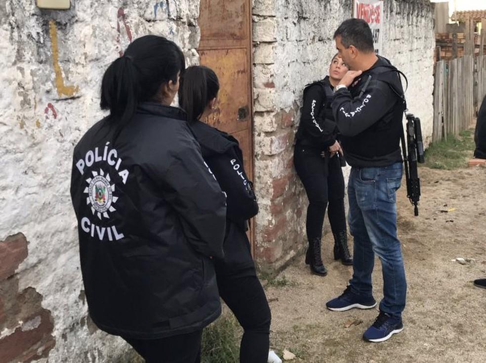 Polícia realiza operação para combater crimes de violência doméstica e familiar contra a mulher — Foto: Divulgação/Polícia Civil