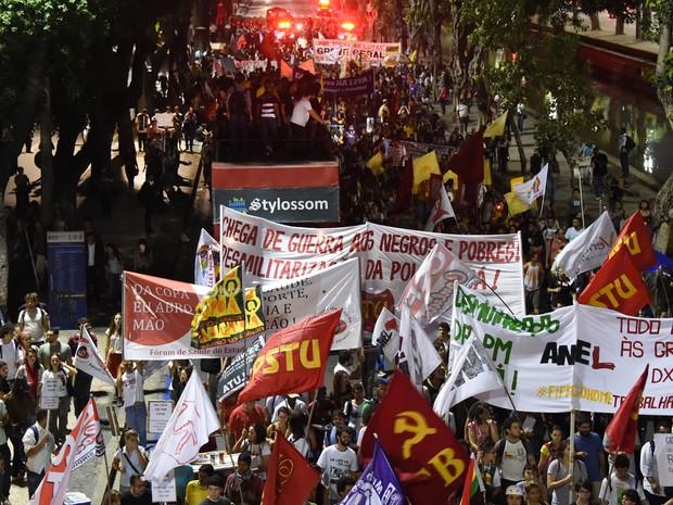 Protesto Rio de Janeiro (Foto: Christophe Simon/AFP)