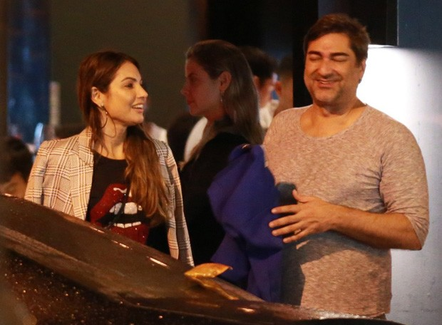 Patrícia Poeta e Zeca Camargo (Foto: Thiago Martins/AgNews)
