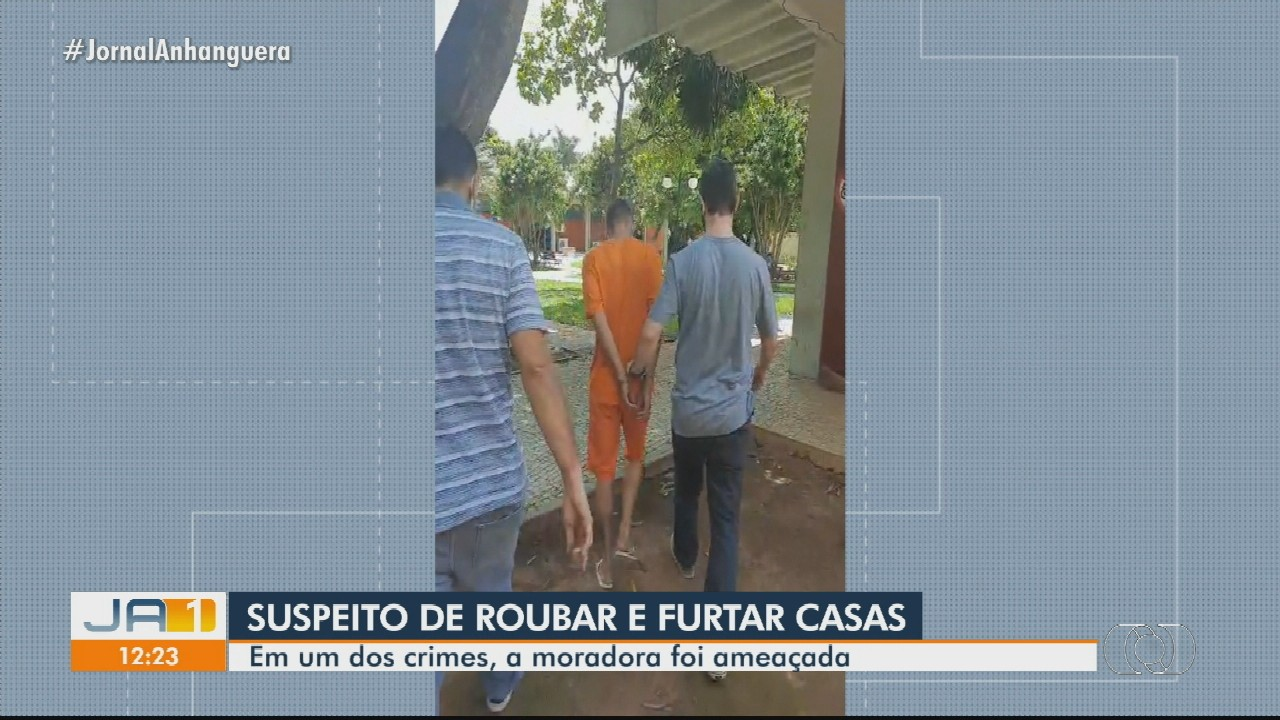 Homem é preso suspeito de roubar casas, em Goiânia