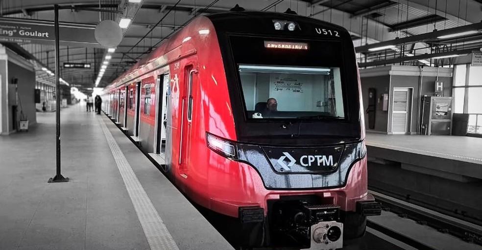 O trem da série 2500, entregue nesta quinta-feira (19) pela CPTM em São Paulo. — Foto: Divulgação/CPTM