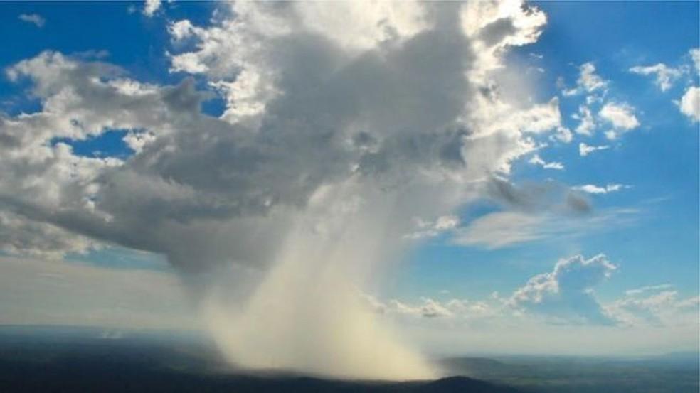 """Os """"rios voadores"""" estão acelerando devido ao aquecimento global e causando chuvas mais intensas — Foto: Gerard Moss/Arquivo"""