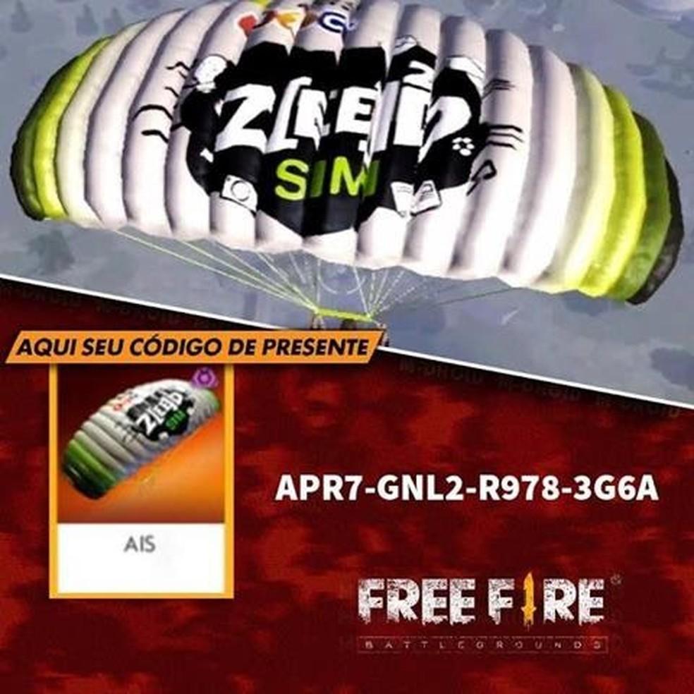 Paraquedas AIS — Foto: Reprodução/Free Fire