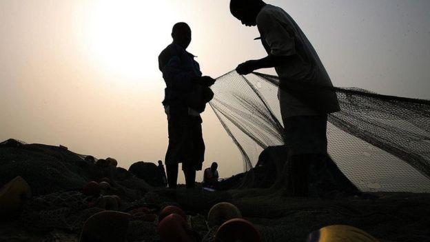 Pescadores de Gana (Foto: Getty Images via BBC)