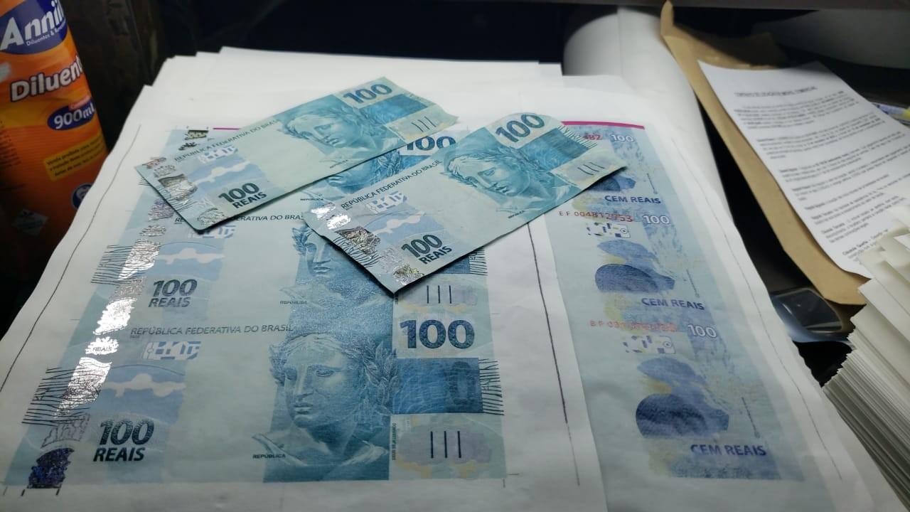 Polícia Civil descobre gráfica clandestina e apreende R$ 500 mil em dinheiro falso no Litoral Norte