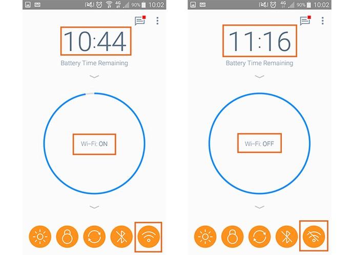 Wi-Fi ligado pode consumir muita bateria no celular (Foto: Reprodução/Barbara Mannara)