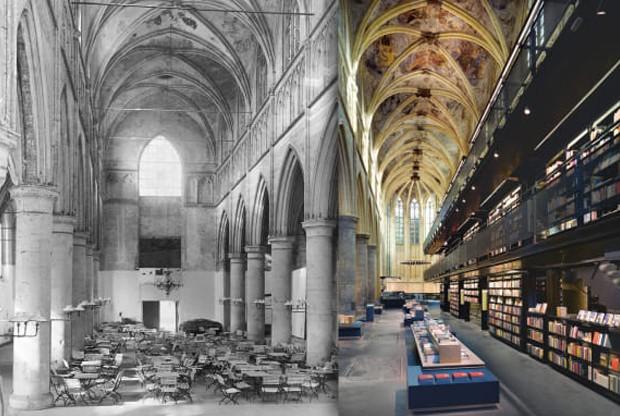 Igreja Dominicana, em Maastricht, Holanda, finalizada em 1924 e abandonada em 1974   (Foto: Ricardo Bofill Taller De Arquitectura/ Phaidon/ Reprodução)