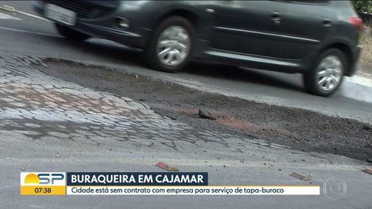 Cajamar sofre com problemas de buracos