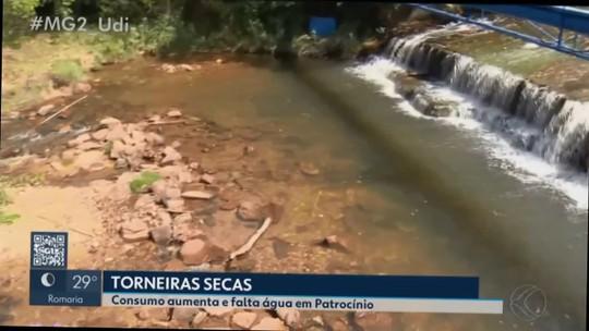 Alguns bairros de Patrocínio enfrentam problemas de abastecimento de água