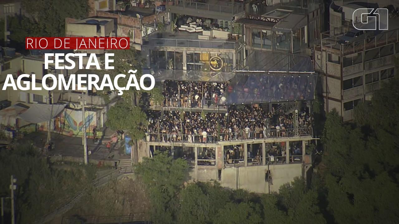 VÍDEO: Festas no Vidigal reúnem centenas de pessoas no Rio