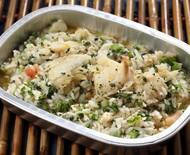 Arroz de bacalhau com legumes: refeição completa