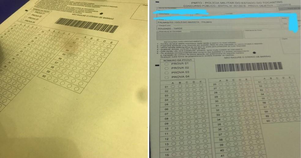 Imagens de gabaritos circularam nas redes sociais depois das provas (Foto: Arte G1)