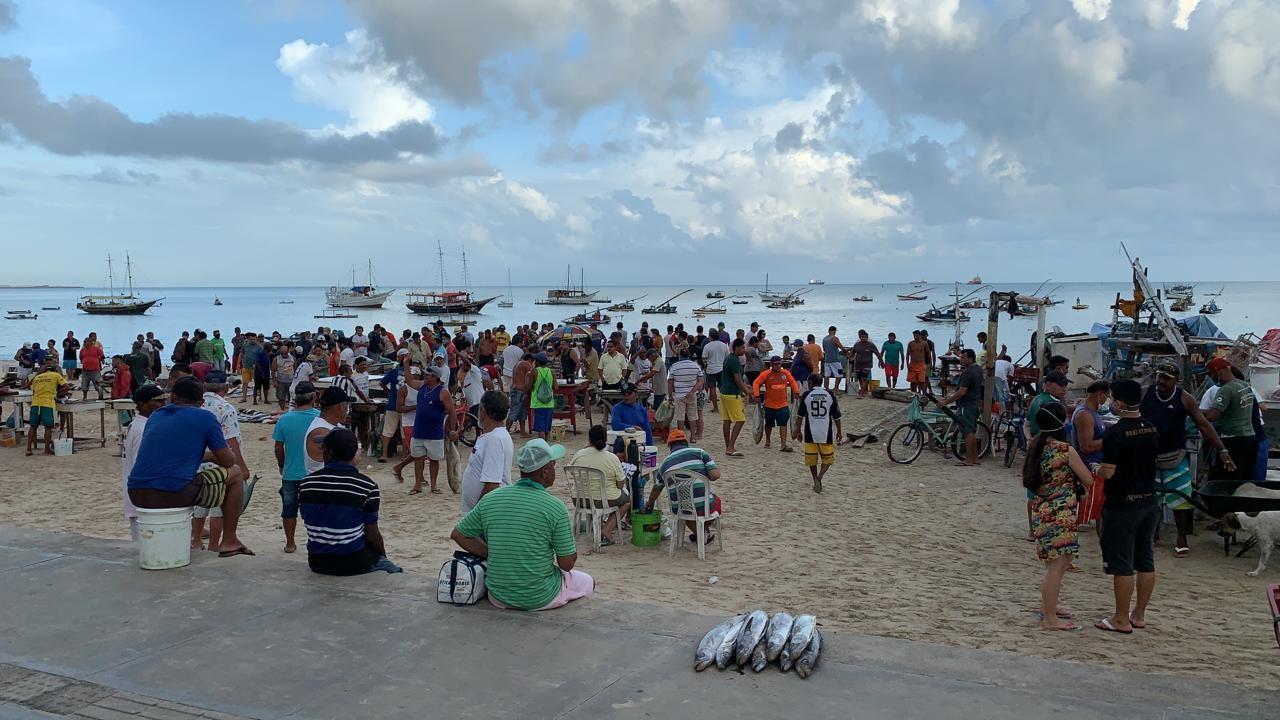 'Pescador não pode ser proibido de pescar', diz presidente da colônia Z-8 sobre aglomerações no comércio de peixes