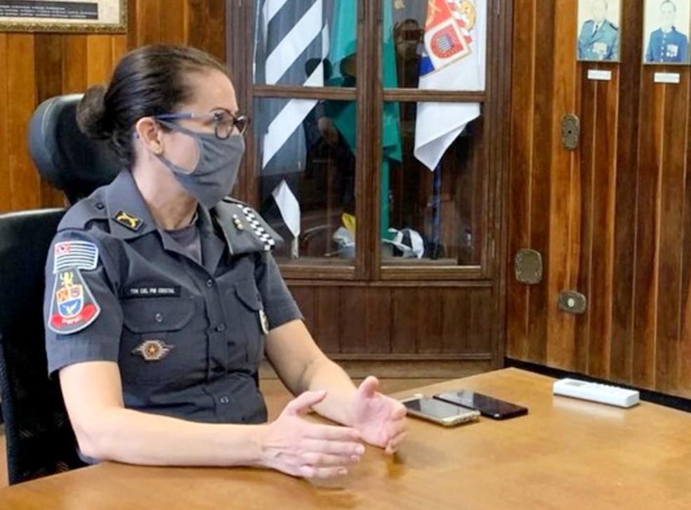 Tenente-coronel Márcia Crystal, comandante da PM em Marília — Foto: Câmara de Marília/Divulgação