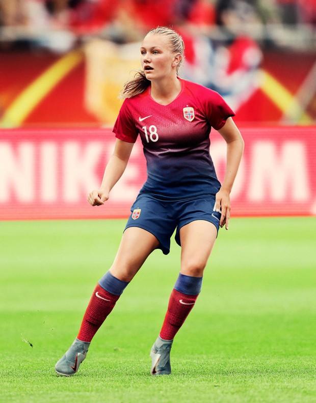 Uniforme da Noruega para a Copa do Mundo de Futebol Feminino (Foto: Divulgação)