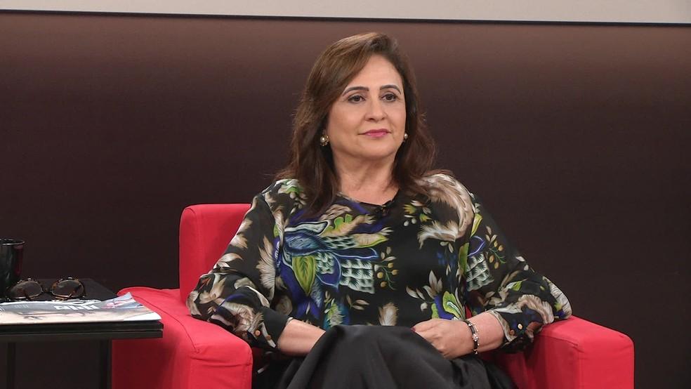 A senadora Kátia Abreu (PDT-TO), candidaa a vice-presidente da República na chapa de Ciro Gomes (PDT) (Foto: Reprodução/GloboNews)