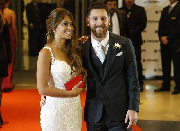 Leionel Messi e Antonella Rocuzzo (Foto: Getty Images)