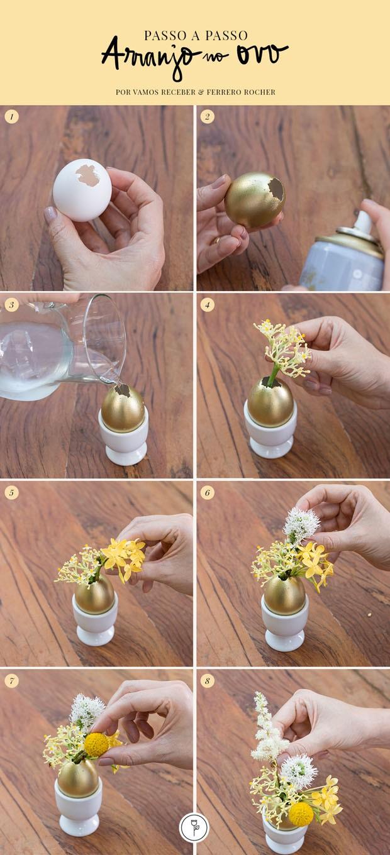 Mesa de Páscoa: aprenda a fazer um arranjo floral no ovo (Foto: Fotos Douglas Daniel Arte Studio MR Jobim)