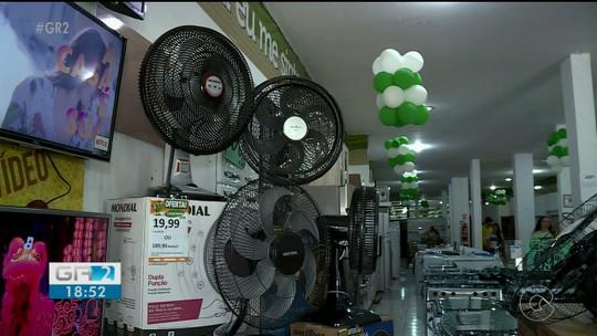 Cresce a procura por ventiladores e aparelhos de ar-condicionado nas lojas de Petrolina, PE