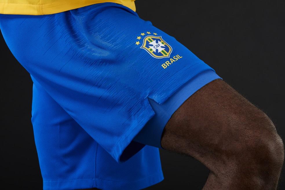 Calção da seleção brasileira para a Copa do Mundo (Foto: Divulgação )