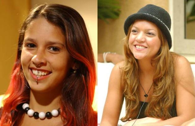 Juliana, do 'BBB' 5, e Elane, participante da terceira edição, foram as mais novas competidoras da atração. Elas entraram na casa com 18 anos (Foto: Reprodução)