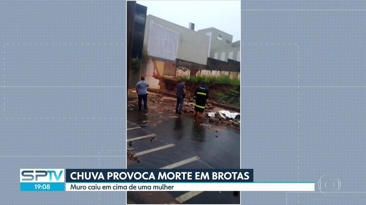 Chuva provoca morte em Brotas